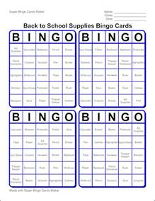 Printable Bingo Cards Template