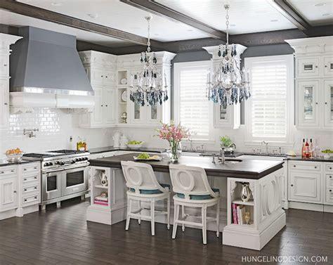wenge wood countertop transitional kitchen benjamin