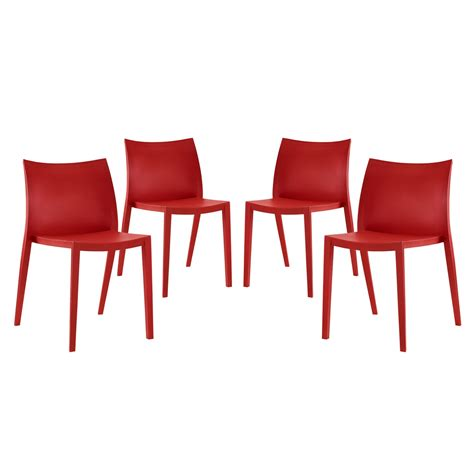 set of 4 gallant casual mid back contoured plastic chair