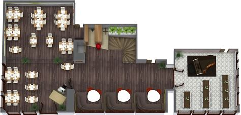 Kitchen Bar Counter Ideas - restaurant floor plan roomsketcher