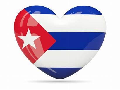 Cuba Flag Heart Cuban Icon Flags Shape