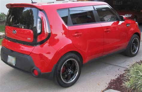 inferno red kia soul mods cool alloys kia news blog