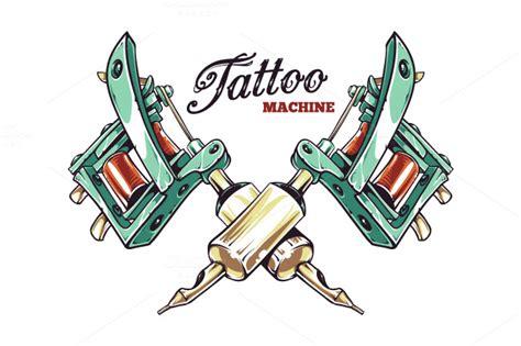 tattoo machine illustrations  creative market