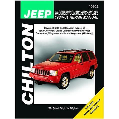 car repair manual download 1992 jeep cherokee regenerative braking 1984 2001 jeep cherokee comanche wagoneer chilton repair manual northern auto parts