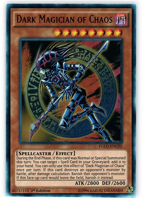 dark magician of chaos ygld enc02 ultra rare 1st