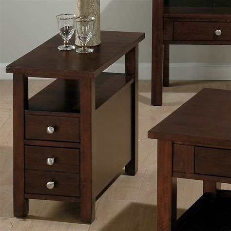 side table with drawer and shelf small dark wood end tables decorative table decoration