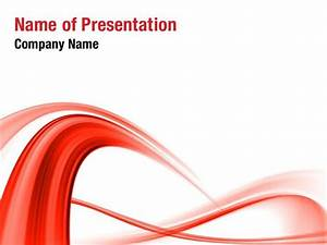 red powerpoint template abstract red wave powerpoint