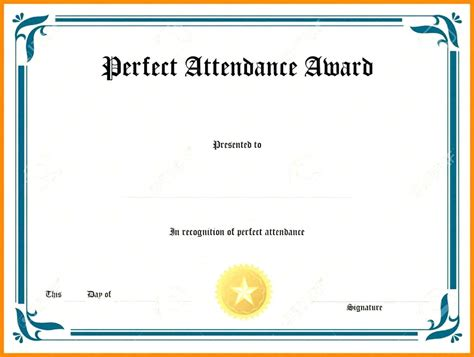 Certificate Of Excellence Template Editable by Template Attendance Award Certificate Template