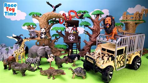 animal planet zoo animals transporter toy playset  kids