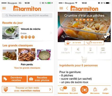 marmiton forum cuisine application de recettes de cuisine laquelle choisir
