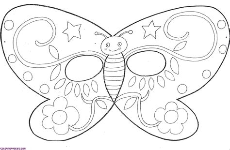 coloring pages animal masks fresh butterfly mask printable