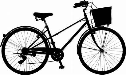 Silhouette Bicycle Bike Clipart Clip Motorcycle Drawing