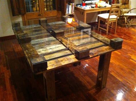 ideas de mesas recicladas hechas  palets  el