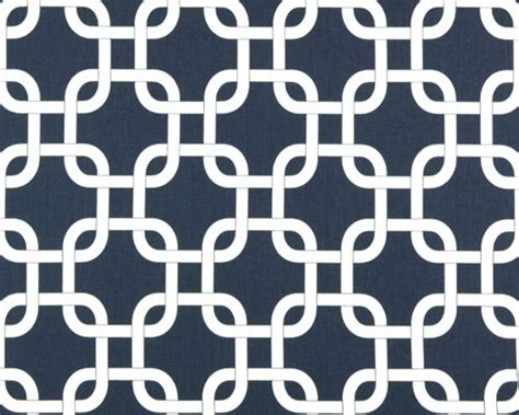 Navy Geometric Pattern Curtains by Premier Prints Fabric Navy Blue And White Gotcha Lattice