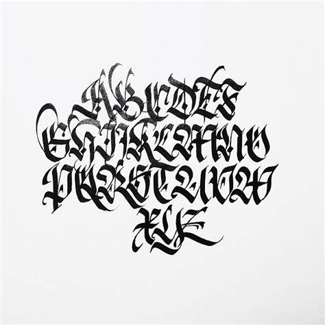 fraktur capitals study fraktur calligraphy gothic