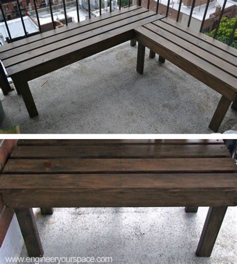 diy outdoor wood bench smart diy solutions for renters