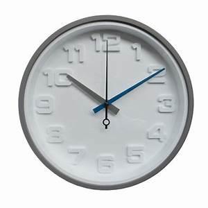Horloge Murale Grise : horloge murale hometrends grise chiffres en 3d ~ Teatrodelosmanantiales.com Idées de Décoration