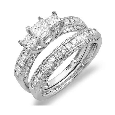 vintage wedding sets antique princess cut wedding ring set on jewelocean