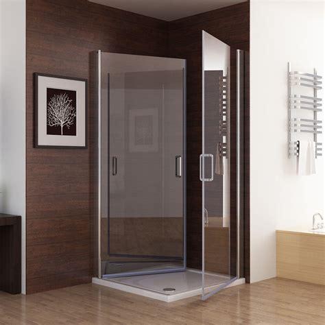 pendeltür dusche 90 cm 90 x 75 cm echtglas duschkabine eckeinstieg dusche duschwand duschabtrennung 195 ebay