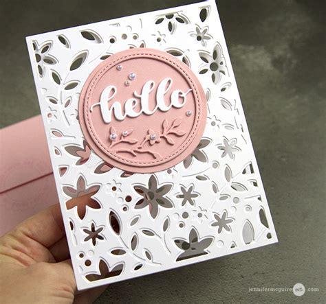 Seethrough Die Cut Cards  Jennifer Mcguire Ink