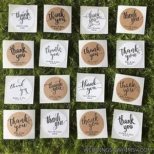thank you labels wedding favor labels stickers classic With labels for wedding favors