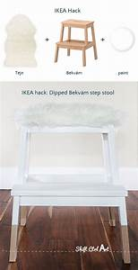Ikea Bekväm Hack : ikea hack dipped bekv m step stool with tejn faux sheep diy ideas pinterest ikea hack ~ Eleganceandgraceweddings.com Haus und Dekorationen