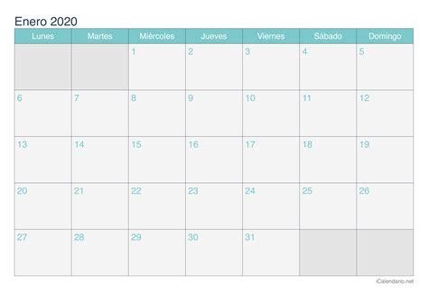 calendario enero imprimir icalendarionet