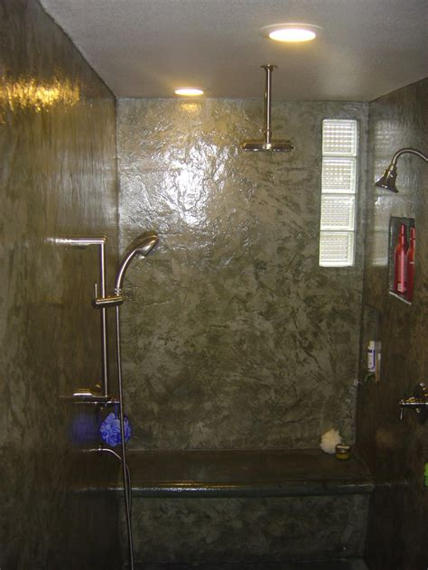 In The Shower - the american edge inc concrete showers bath