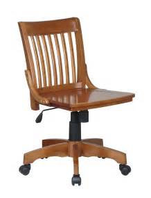 101 fw office star armless fruitwood bankers chair with
