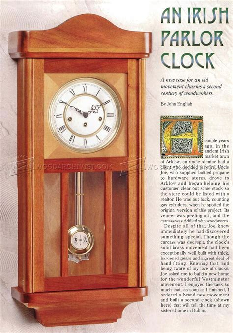 wall clock plans woodarchivist