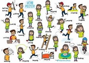 Poster For Teaching Action Verbs  Great For New English
