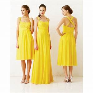 bright yellow bridesmaids dresses for the big day With yellow wedding dresses bridesmaids