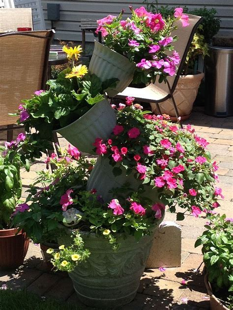Hometalk   Topsy Turvy Flower Pot Creation