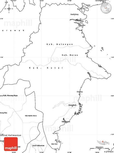 blank simple map  east kalimantan