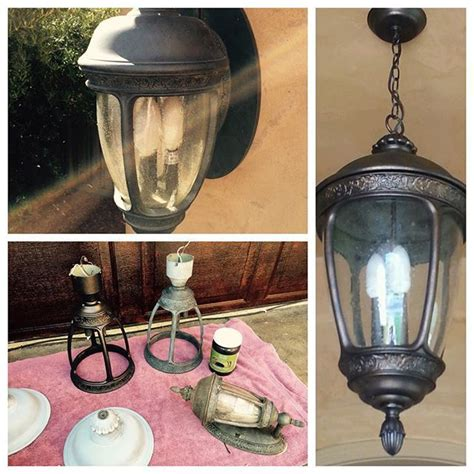 Transform Your Faded Light Fixtures How To By Kelly