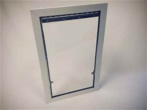 4 sided acrylic exterior kennel doors With plexiglass dog door