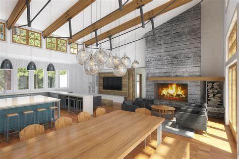 modern farmhouse vacation home design board vellum