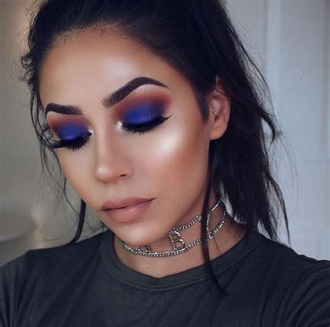 jaclyn hill palette  morphe  blue makeup makeup fall makeup