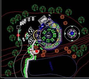 Touristic Restaurant 2D DWG Design Block for AutoCAD