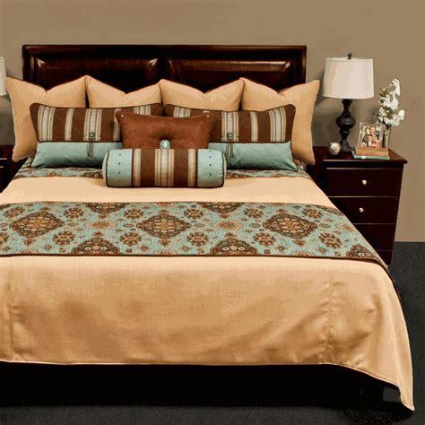 Kensington Teal Luxury Bed Set   Cal King