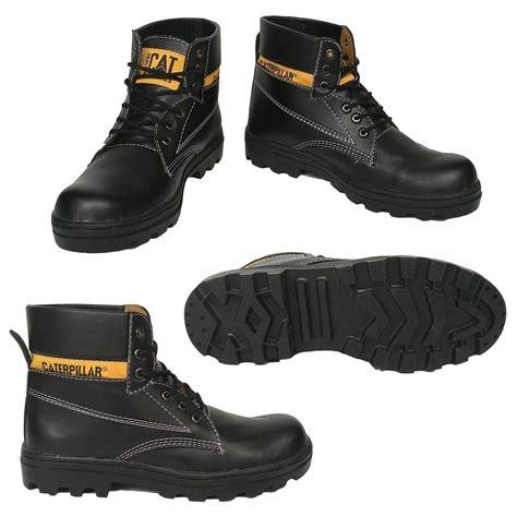 jual beli sepatu pria boots safety caterpillar bahan