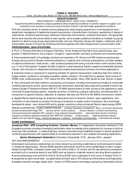 resume for formulation chemist 1 fei portfolio r d resumes and appendix 2015