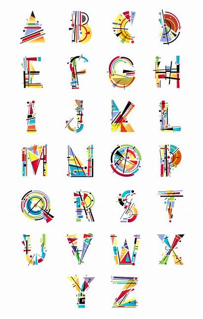 Alphabet Behance Kandinsky Typography Letters Lettering Graphic