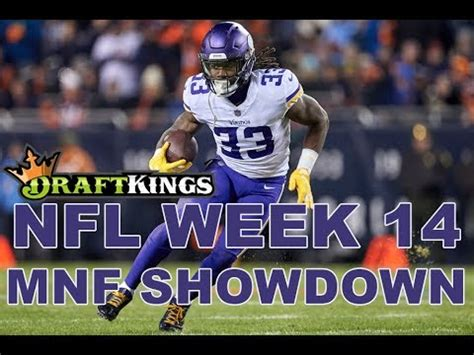 week  nfl monday night football draftkings showdown