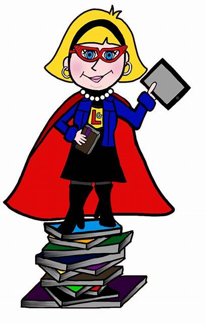 Librarian Library Clip Clipart Creative Librarians Commons