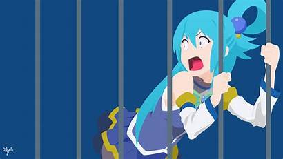 Konosuba Aqua Anime 4k Wallpapers Wonderful Blessing