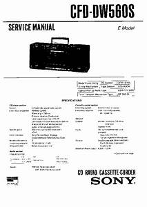 Sony Cfd-dw560s  Cfd-j511s Service Manual