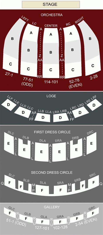 fox theatre seating chart  brokeasshomecom