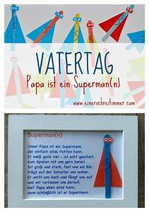 Bastelideen Zum Vatertag : vatertag geschenk ultraschnelles diy papa ist unser superheld kindergarten ~ Frokenaadalensverden.com Haus und Dekorationen