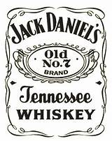Daniels Jack Label Template Bottle Silhouette Shirt Tattoo Festa Luxury sketch template
